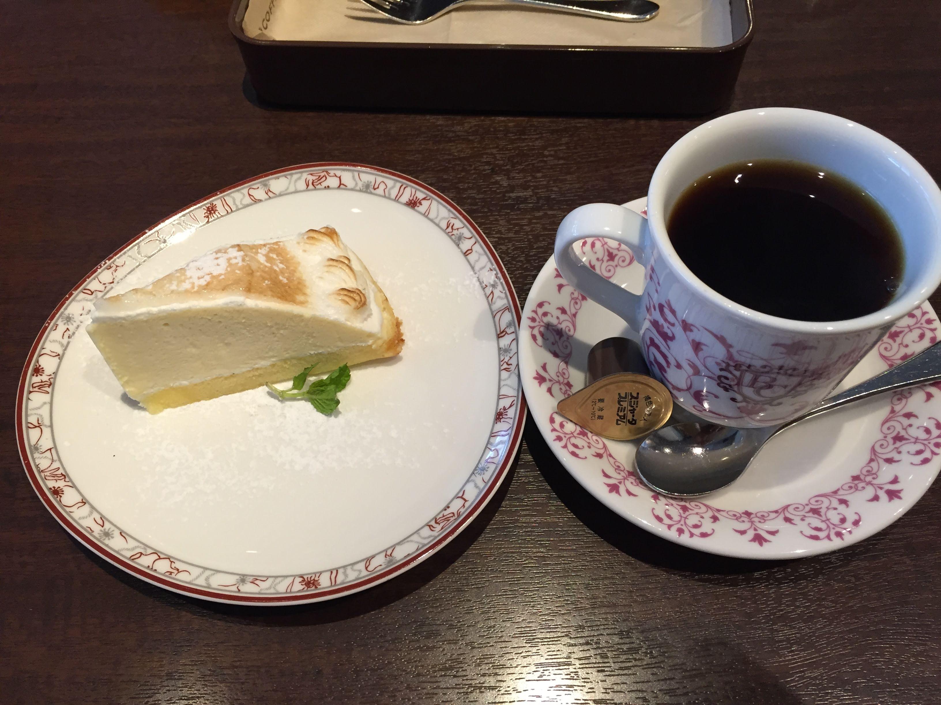 ビリオン珈琲 北白川店 ケーキセット