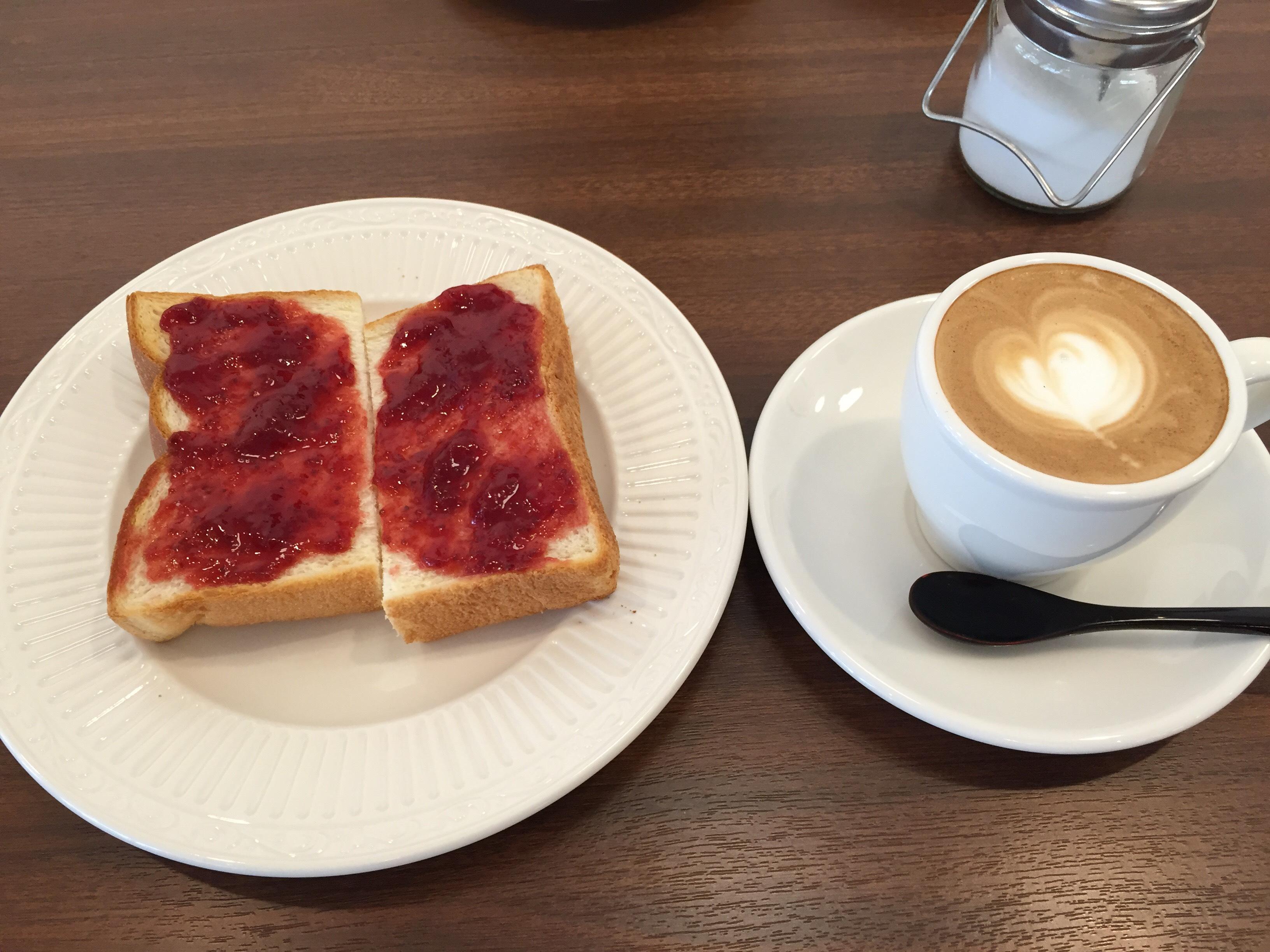 ノートカフェ トースト モーニング