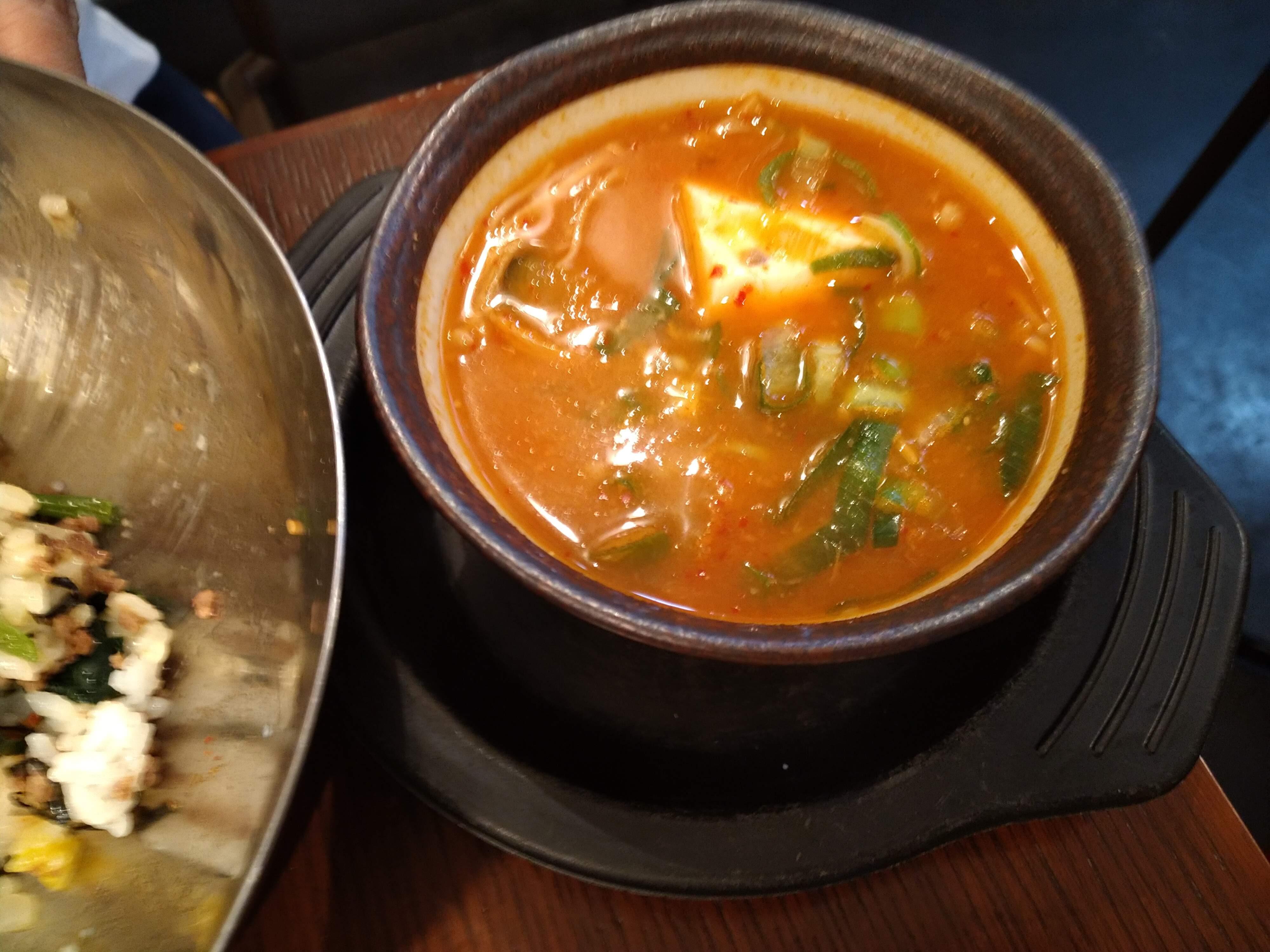 キムチのミズノ チゲスープ